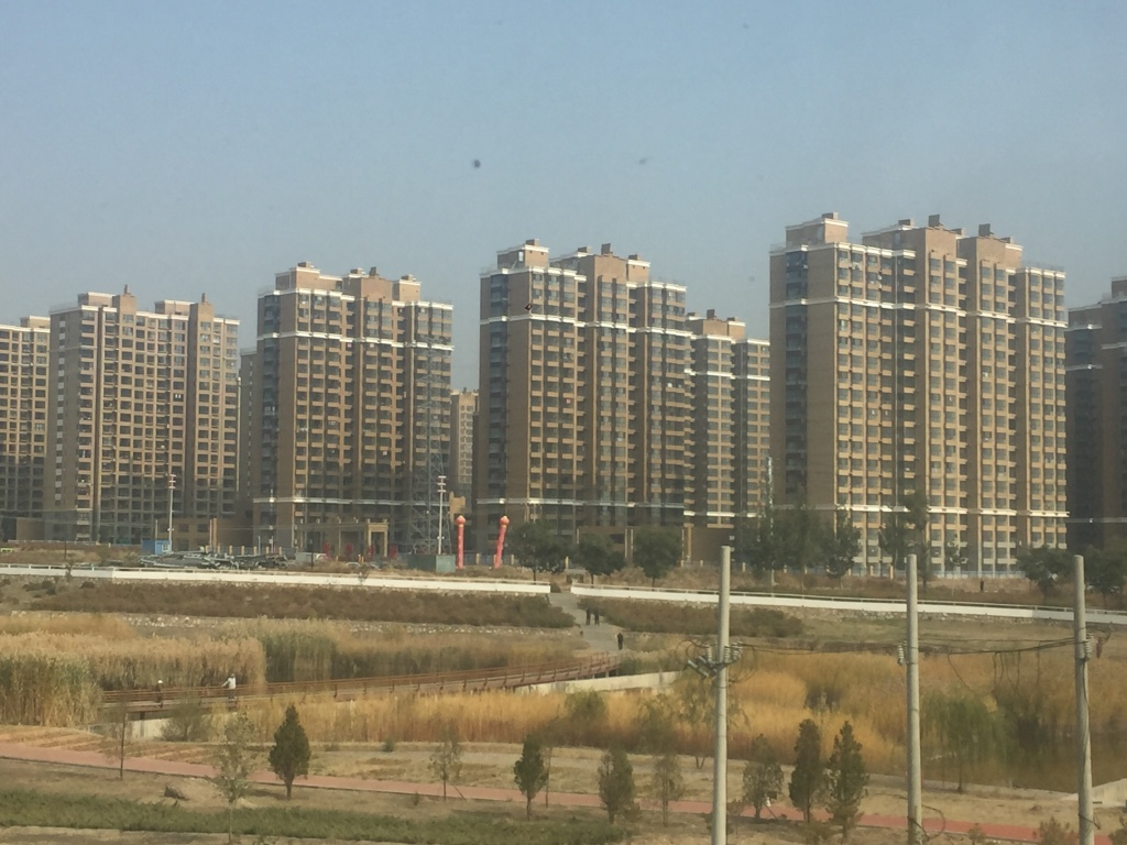 High rise dormitory suburbs of China